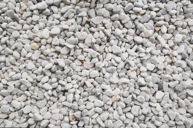 Textura de pedras decorativas brancas Foto Premium