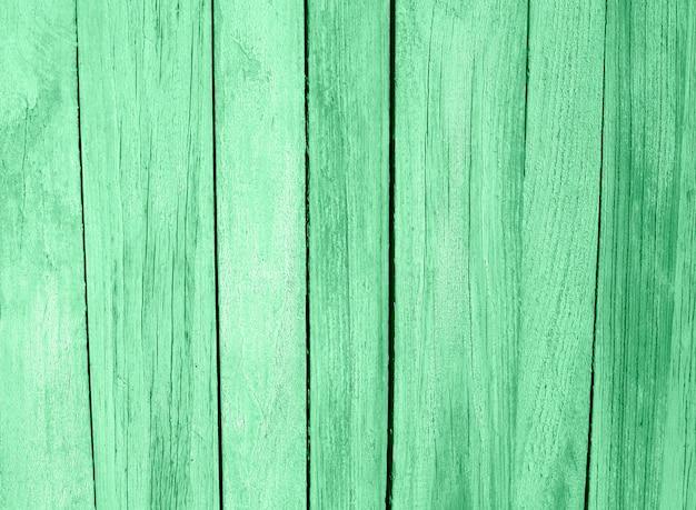 Textura de prancha de madeira mesa pintada na cor hortelã Foto Premium