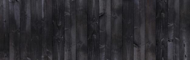 Textura de pranchas de madeira velha de madeira preta larga Foto Premium