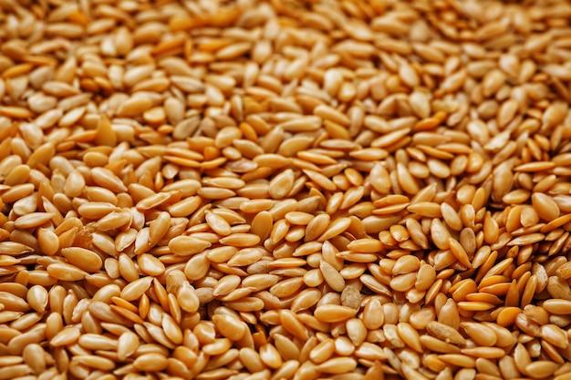 Textura de sementes de linho brancas. cereais úteis. Foto Premium