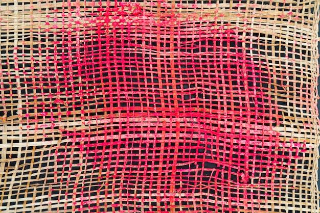 Textura de tecelagem grossa Foto Premium