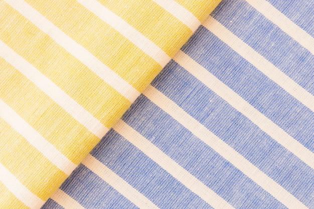 Textura de tecido de linho amarelo e azul Foto gratuita