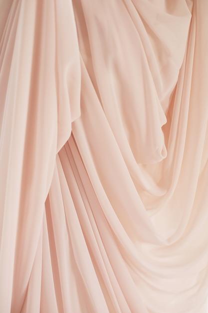 Textura de tecido rosa para abstrato, design e papel de parede, suave e estilo de borrão Foto Premium