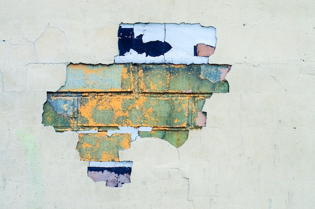 Textura de tijolos com pintura descascada Foto Premium