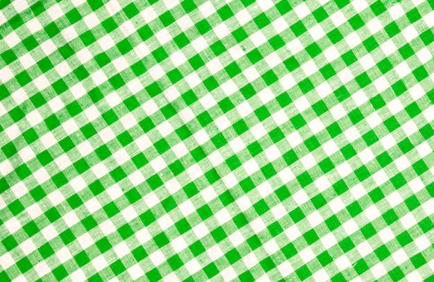 Textura de toalha de mesa quadriculada verde Foto Premium