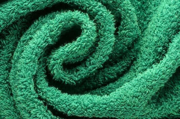 Textura de toalha de perto Foto Premium