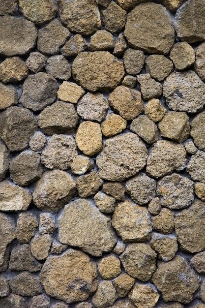 Textura, de, um, antigas, parede pedra, de, desigual, diferente, pedras antigas, de, vário, formulários Foto Premium