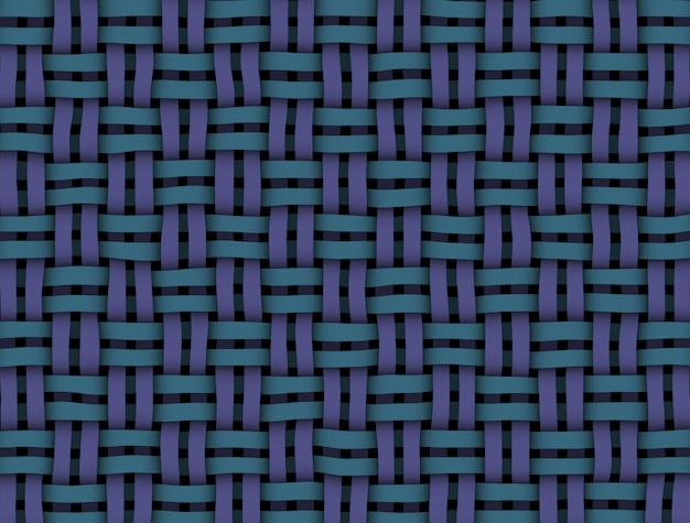 Textura de vime azul-roxo na cor Foto Premium