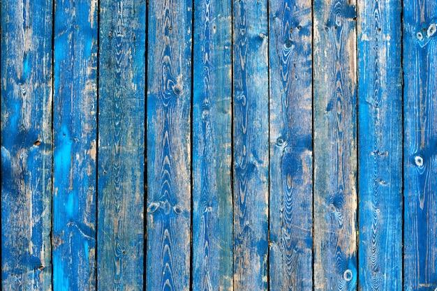 Textura de vintage azul e turquesa pintado fundo de madeira Foto Premium