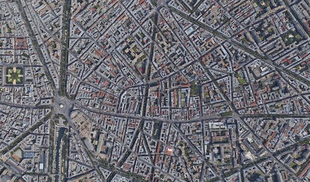 Textura de vista de satélite Foto Premium