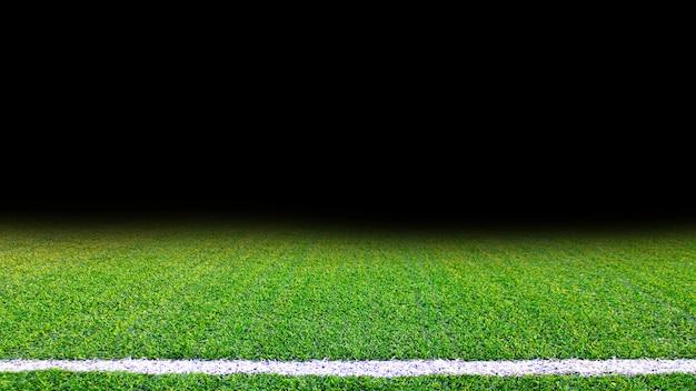 Textura detalhada da grama de campo de futebol verde Foto Premium