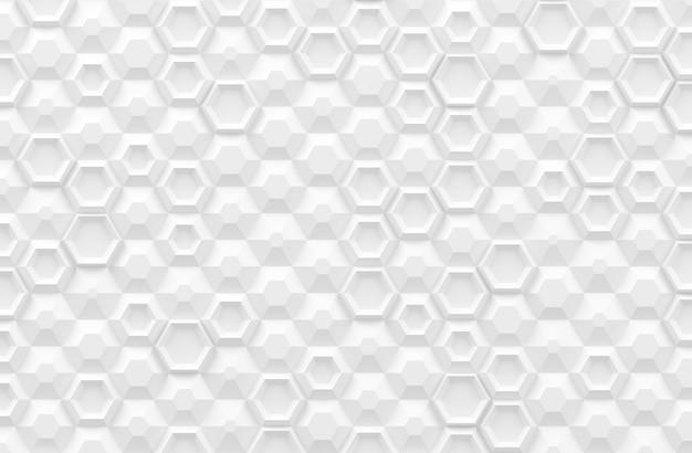 Textura digital paramétrica baseada em grade hexagonal com diferentes volumes e padrões internos Foto Premium