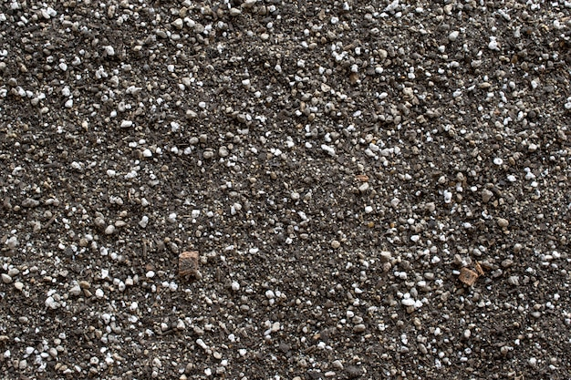 Textura do solo e opinião do fundo da natureza de cima de. Foto Premium