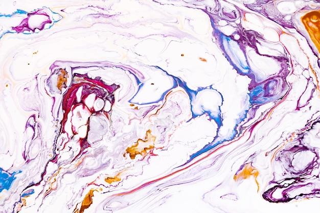 Textura líquida acrílica abstrata. arte moderna com manchas e respingos de tinta colorida. Foto Premium