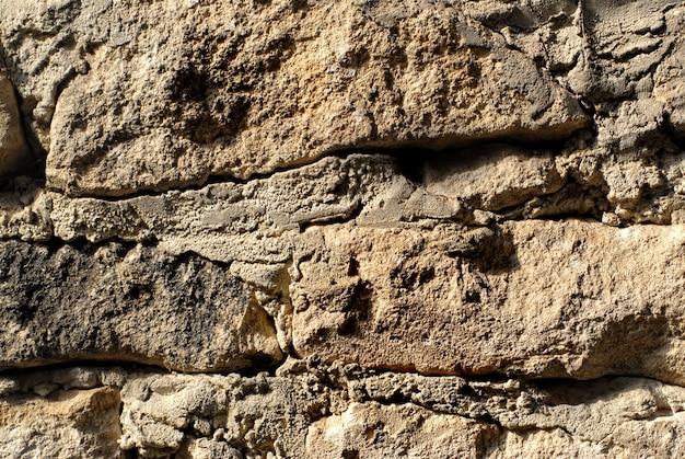 Textura macro de parede de pedra Foto Premium