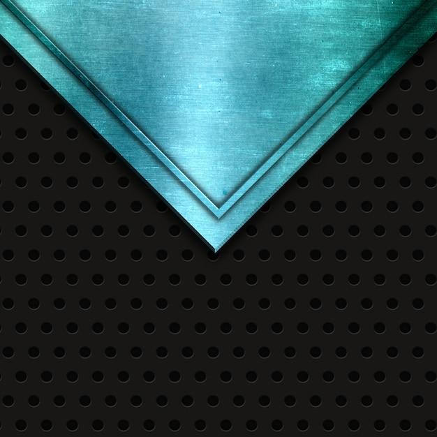 Textura metálica azul abstrata em um fundo de metal perfurado Foto gratuita