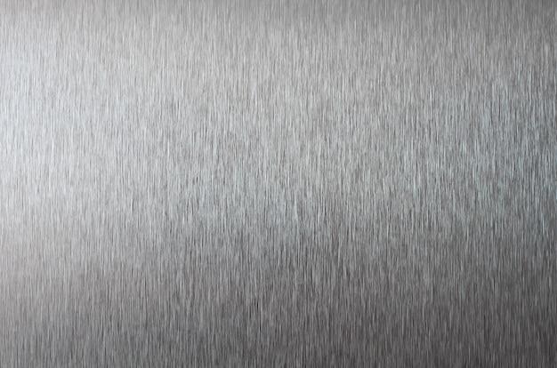 Textura metálica prata. textura de aço inoxidável close-up Foto Premium