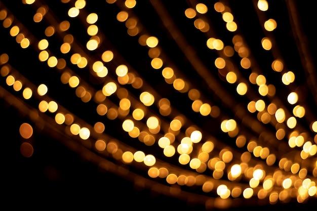 Texturas e reflexões de ouro bokeh Foto Premium