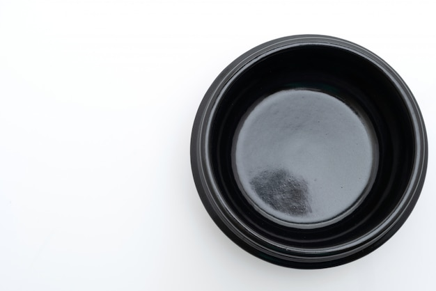 Tigela vazia de sopa preta (panela de barro) no estilo coreano Foto Premium