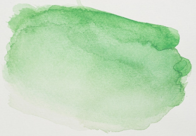 Tintas verdes na folha branca Foto gratuita