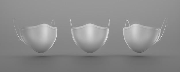 Tipos de máscaras médicas com sombras Foto gratuita