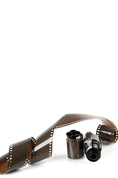 Tira de filme isolada Foto gratuita
