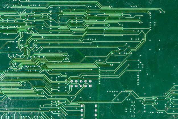 Tiro de quadro completo de placa de circuito de computador Foto gratuita