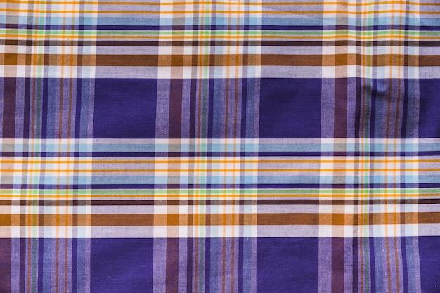 Tiro de quadro completo de têxteis padrão xadrez colorido Foto gratuita