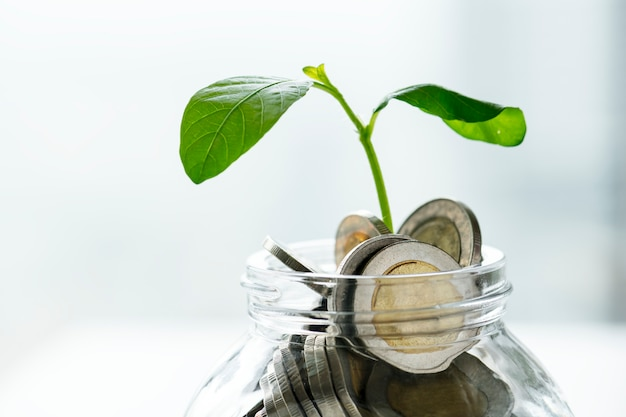 Tiro macro do conceito financeiro Foto gratuita