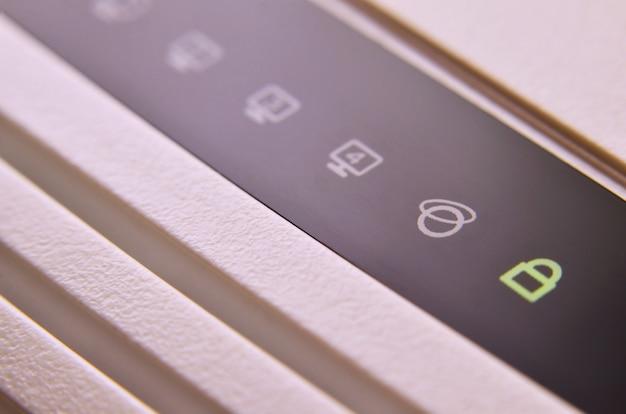 Tiro macro do modem de internet Foto Premium