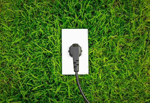 Tomada conceito de energia na primavera fresco grama Foto gratuita