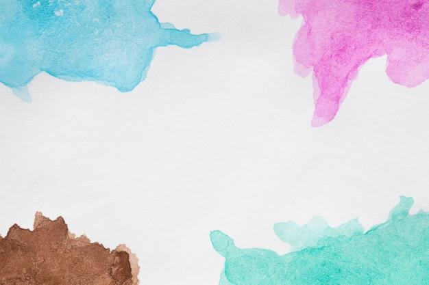 Tons de azul pintados à mão manchas Foto gratuita