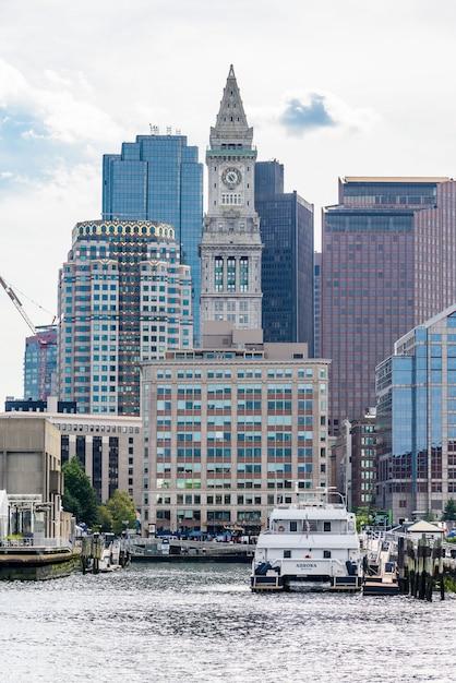 Torre Da Custom House Em Boston Foto Premium