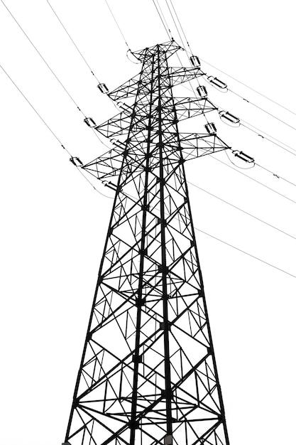 Torre de transmissão de energia Foto Premium