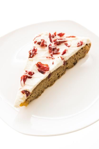 Torta de framboesa cranberries fundo gourmet Foto gratuita