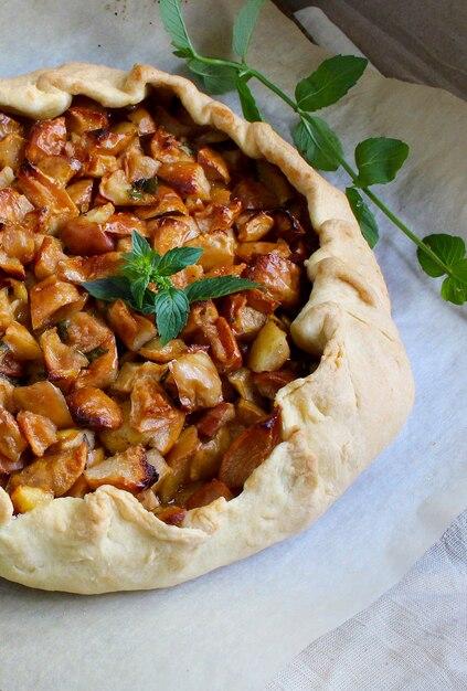 Torta de maçã Foto Premium