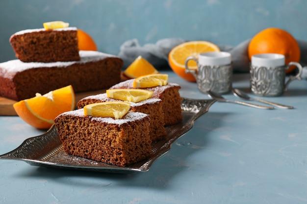 Torta de mel doce tradicional no feriado de ano novo judaico de rosh hashaná Foto Premium