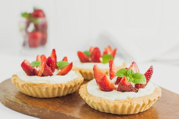Torta de morango deliciosa Foto gratuita