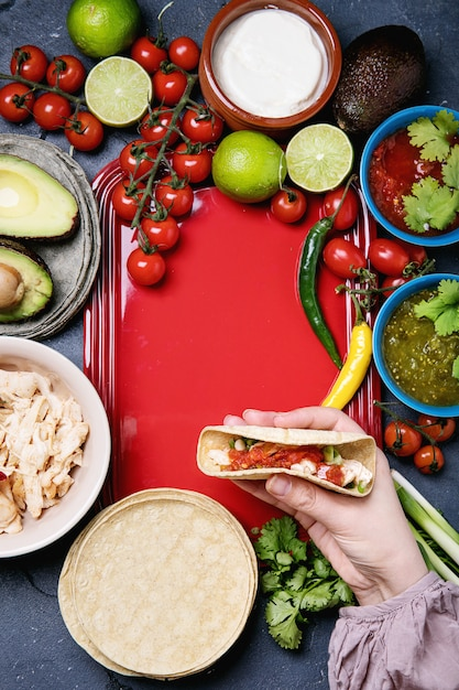 Tortillas caseiros Foto Premium