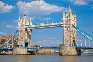 Tower bridge suspensão hdr Foto gratuita