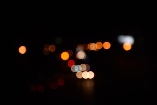 Tráfego de luz noite bokeh Foto Premium