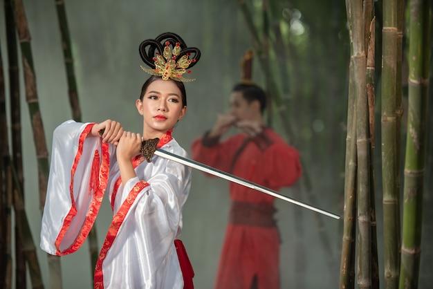 Traje antigo chinês Foto Premium