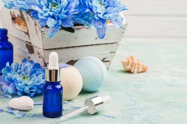 Tratamento de spa com óleo essencial Foto Premium