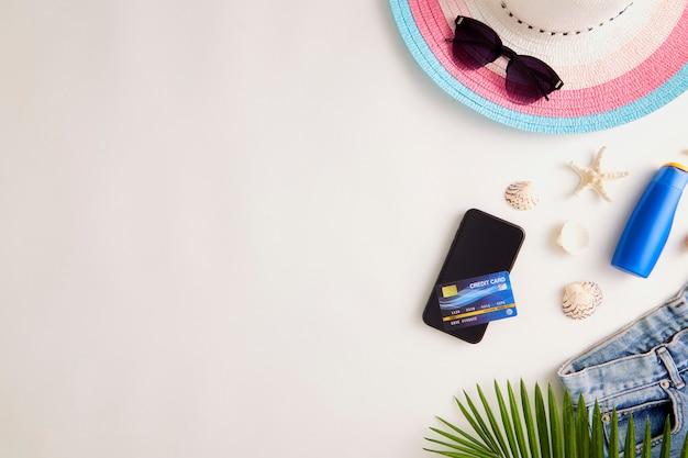 Travel online holiday summer concept Foto Premium
