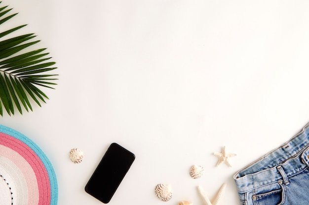 Travel online holiday summer concept Foto Premium