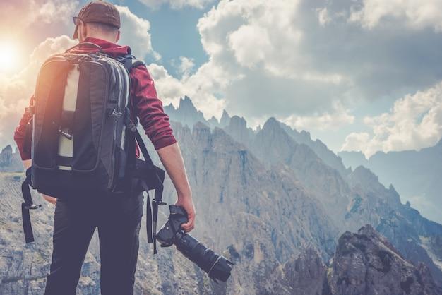 Travel photographer pro photographer Foto gratuita