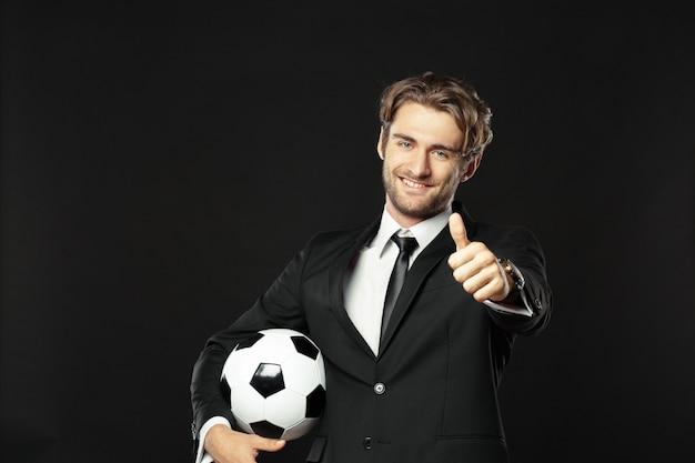 Treinador, negócios, esporte em preto Foto Premium