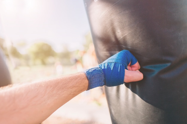 Treino de boxe jovem Foto Premium