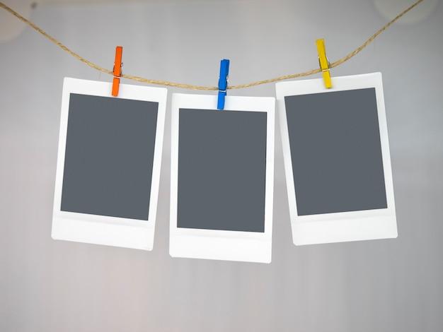 Três molduras instantâneas Foto Premium