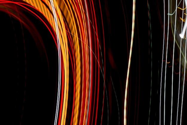 Trilhas de luz abstrata da noite. Foto Premium